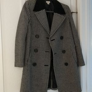 J. Crew Wool Blend Houndstooth Coat
